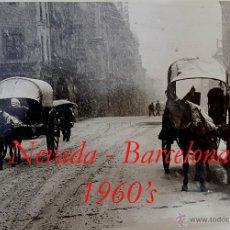 Fotografia antica: NEVADA - BARCELONA - 1960'S - FOTOGRAFIA CLOSA MIRALLES - GRAN FORMATO . Lote 53263697