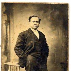 Fotografía antigua: FOTO BUSQUETS BARCELONA RETRATO SEÑOR ESTUDIO TAMAÑO POSTAL. Lote 53305881