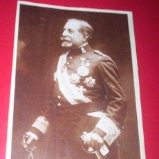 Fotografía antigua: JOSÉ MARVÁ Y MAYER - FOTO ORIGINAL MILITAR GENERAL INGENIEROS ALFONSINO MEDALLAS CRUCES - ALICANTE. Lote 53375990