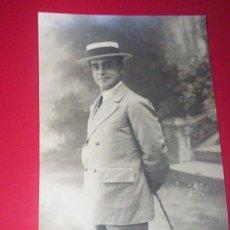 Fotografía antigua: FOTO ORIGINAL TORERO TOROS - AÑOS 20 - ENRIQUE VARGAS MINUTO SEVILLA - ELEGANTE MODA TRAJE. Lote 53376644