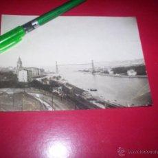 Fotografía antigua: FOTO ORIGINAL PUENTE DE VIZCAYA PORTUGALETE ALGORTA EUSKADI AÑOS 20 - . Lote 53456463