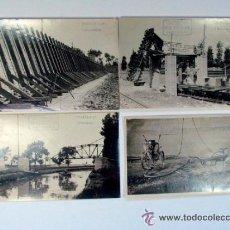Fotografía antigua: MARIN CHIVITE. ZARAGOZA, CONSTRUCCION DE LOS NUEVOS DEPÓSITOS DE AGUA. 1928. 11 FOTOS. ARAGÓN. Lote 53656125