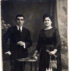 Fotografía antigua: FOTO SANTONJA BARCELONA RETRATO PEREJA CON REVERSO TAMAÑO POSTAL. Lote 54173575