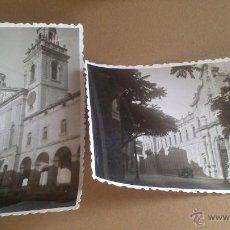 Fotografía antigua: DOS FOTOGRAFIAS DE CARDONA, BARCELONA AÑO 1956, PATIO Y FACHADA DE LA UNIVERSIDAD.. Lote 54265558