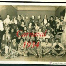 Fotografía antigua: CARNAVAL - BARCELONA - 1934 - FOTOGRAFIA SAGARRA Y TORRENTS. Lote 54314387