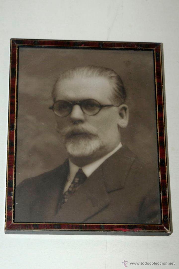 RETRATO HOMBRE BARBUDO (Fotografía Antigua - Gelatinobromuro)