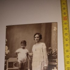 Fotografía antigua: MADRE NIÑO -FOTOGRAFIA ROVIRA. Lote 54842369
