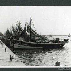 Photographie ancienne: TARRAGONA. CAMBRILS. PUERTO. BARCAS DE PESCA-1. 11/9/1966. Lote 55714788