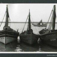 Photographie ancienne: TARRAGONA. CAMBRILS. PUERTO. BARCAS DE PESCA-16. 11/9/1966. Lote 55717399