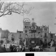 Fotografía antigua: MAGNIFICA PLACA FOTOGRAFICA DE CRISTAL 9X12 GAYATA AVENIDA DEL REY CASTELLON 1945. Lote 56619662
