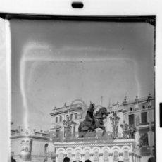 Fotografía antigua: MAGNIFICA PLACA FOTOGRAFICA DE CRISTAL 9X12 GAYATA PLAZA DE LA FAROLA CASTELLON 1945. Lote 56619723