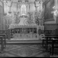 Fotografía antigua: PLACA CRISTAL 9X12 ALTAR PRINCIPAL IGLESIA HERMANITAS DE LA CARIDAD CALLE GOBERNADOR CASTELLON. Lote 56640092