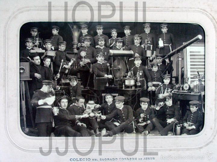 DAVID. COLEGIO DEL S. C. DE JESUS. CARRION DE LOS CONDES. PALENCIA. INSTRUMENTOS CIENTIFICOS. 1889 (Fotografía Antigua - Gelatinobromuro)