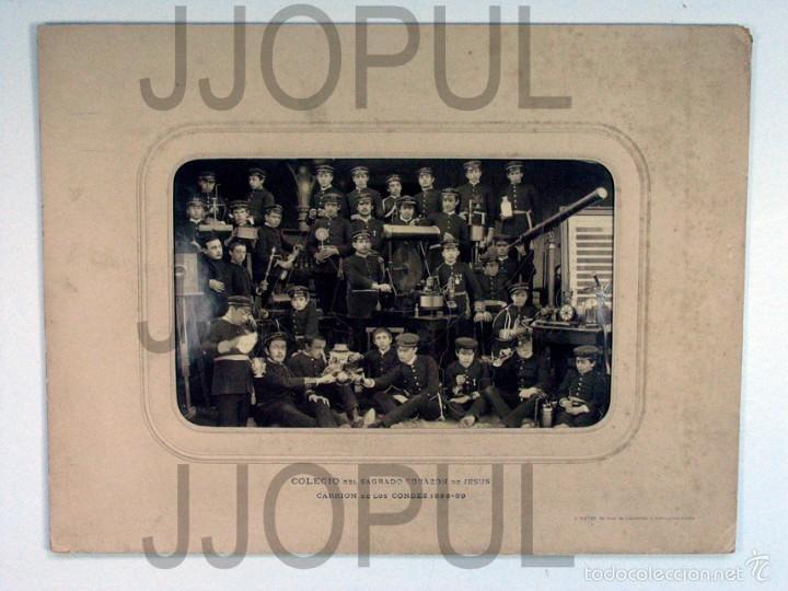 Fotografía antigua: DAVID. COLEGIO DEL S. C. DE JESUS. CARRION DE LOS CONDES. PALENCIA. INSTRUMENTOS CIENTIFICOS. 1889 - Foto 2 - 56976407