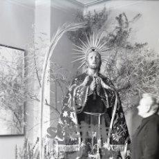 Fotografía antigua: PLACA FOTOGRAFICA ORIGINAL DE IMAGEN CRISTO EN EL HUERTO DE LOS OLIVOS I.DE LA SANGRE CASTELLON. Lote 57083631