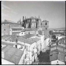 Fotografía antigua: PLASENCIA (CACERES) 5 NEGATIVOS FOTOGRAFICOS CELULOIDE 6X6. FOTÓGRAFO TURISTA FRANCÉS, AÑO 1954.. Lote 57123878