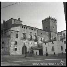 Fotografía antigua: PLASENCIA (CACERES) 4 NEGATIVOS FOTOGRAFICOS CELULOIDE 6X6. FOTÓGRAFO TURISTA FRANCÉS, AÑO 1954.. Lote 57123902