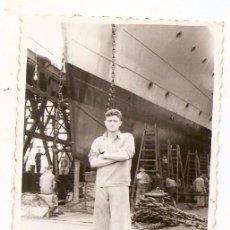 Fotografía antigua: BASE NAVAL DE MAHÓN (MENORCA) 2-6-1954. Lote 57347492