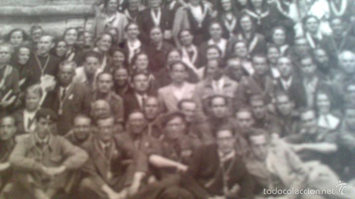 Fotografía antigua: PEREGRINACION A ZARAGOZA ANDANDO EN .EL AÑO 1939, FOTOGRAFA MARIA CHIVITE, ZARAGOZA. - Foto 2 - 57416824