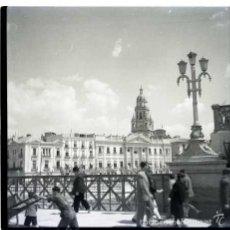 Fotografía antigua: MURCIA 1961. NEGATIVO FOTOGRÁFICO B/N, 6X6 CM. ORIGINAL. INEDITO. PERFECTO.. Lote 57626169