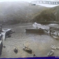 Fotografía antigua: ANTIGUA FOTOGRAFIA ARMINTZA, LEMONIZ, VIZCAYA 23 X 17,5 CM, VISTA PUERTO, AÑO 1940. Lote 57920167
