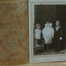 Fotografía antigua: GRUPO DE HERMANOS - FOTO IGEA - BARCELONA. Lote 57946762