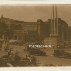 Fotografía antigua: FOTO ORIGINAL BARCELONA EXPOSICION UNIVERSAL 1929 LA PERGOLA COCHE AUTOMOVIL - 8X5,5 CM . Lote 58069498