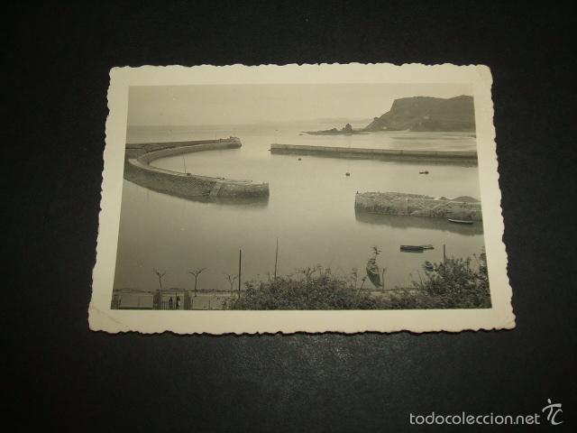 VIZCAYA UN PUERTO FOTOGRAFIA AÑOS 40 6 X 9 CMTS (Fotografía Antigua - Gelatinobromuro)