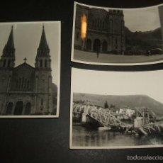 Fotografía antigua: CANGAS DE ONIS Y COVADONGA ASTURIAS GUERRA CIVIL 3 FOTOGRAFIAS POR SOLDADO LEGION CONDOR 1937. Lote 58119853