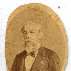 Fotografía antigua: FOTO A. COHNER RETRATO SEOR OVALADO 1879 CON REVERSO RECORTADO. Lote 58124252