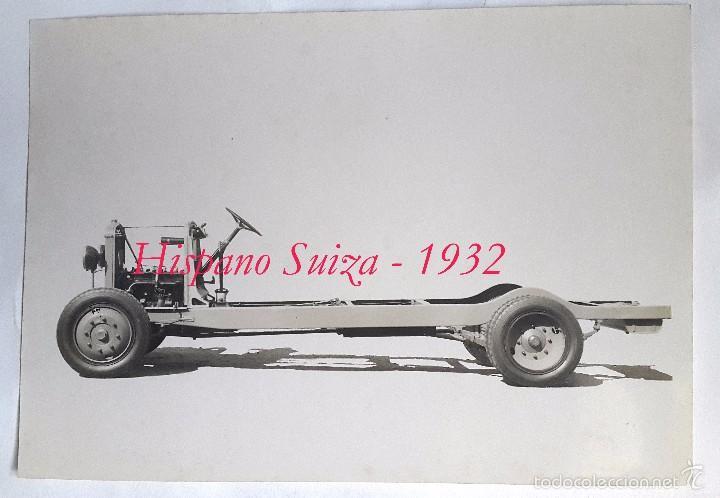 HISPANO SUIZA - FOTOGRAFIA DE LA ESTRUCTURA - 1932 (Fotografía Antigua - Gelatinobromuro)