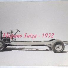 Fotografía antigua: HISPANO SUIZA - FOTOGRAFIA DE LA ESTRUCTURA - 1932 . Lote 58324251