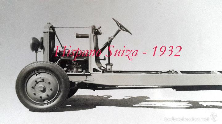 Fotografía antigua: HISPANO SUIZA - FOTOGRAFIA DE LA ESTRUCTURA - 1932 - Foto 2 - 58324251
