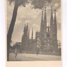 Fotografía antigua: LA SAGRADA FAMILIA, BARCELONA, 1950'S. FOTO: M. VILAMITJANA. 15X18 CM.. Lote 60364243