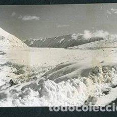 Fotografía antigua: ANDORRA. CARRETERA. MONTAÑAS. NIEVE-2. 1962. Lote 61495687
