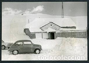 ANDORRA. CARRETERA. PUERTO DE MONTAÑA Y SEISCIENTOS. MONTAÑAS. NIEVE-3. 1962 (Fotografía Antigua - Gelatinobromuro)
