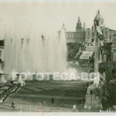 Fotografía antigua: FOTO ORIGINAL EXPOSICION BARCELONA 1929 PALACIO NACIONAL FUENTE MAGICA PABELLON FRANCIA DINAMARCA. Lote 61755176