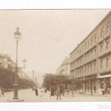 Fotografía antigua: SAN SEBASTIÁN, AVENIDA. 1910 APROX. 9 X 14 CM.. Lote 62508400