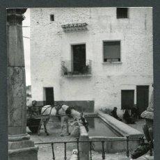 Fotografía antigua: SANT MATEU. CASTELLÓN. ANTIGUA FUENTE Y ABREVADERO DE CABALLOS. INTERESANTE. 1968. Lote 62511888