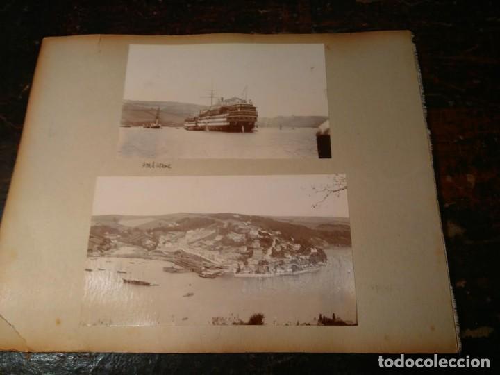 Fotografía antigua: Fotografía antigua de barco 1902. Tres en una hoja de album: barco de la Holt Lines Agamemnon, etc - Foto 2 - 63698219