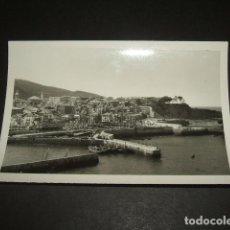 Fotografía antigua: BERMEO VIZCAYA ESCENA DEL PUERTO ANTIGUA FOTOGRAFIA 7 X 10 CMTS. Lote 64722839