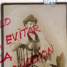 Fotografía antigua: FOTO COLL HIJOS BARCELONA RETRATO SEÑORA TAMAÑO IMPERIAL SIN REVERSO. Lote 65653718