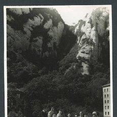 Fotografía antigua: MONTSERRAT. GRUPO EN MONTSERRAT. C. 1955. Lote 66118866