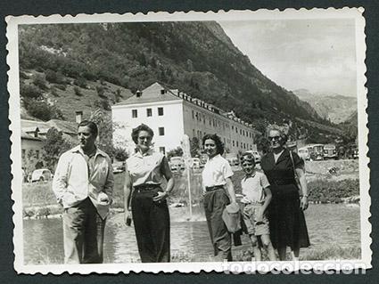 caldes de boi. familia en el balneario de calde - Comprar Fotografía antigua Gelatinobromuro en todocoleccion - 67388785