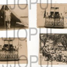 Fotografía antigua: FALANGE. FRENTE DE JUVENTUDES. LOTE DE 4 FOTOGRAFIAS. LAS PALMAS DE GRAN CANARIAS. 1947. Lote 231439520