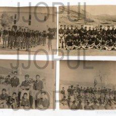 Fotografía antigua: FALANGE. FRENTE DE JUVENTUDES. LOTE DE 4 FOTOGRAFIAS. CAMPAMENTO. MANDOS. AÑOS 40. Lote 69846889