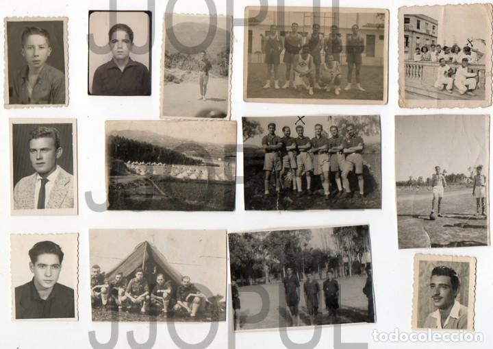 FALANGE. FRENTE DE JUVENTUDES. UNIFORME. LOTE DE 22 FOTOGRAFIAS. AÑOS 40 (Fotografía Antigua - Gelatinobromuro)