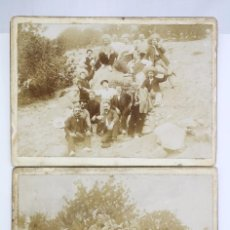 Fotografía antigua: PAREJA DE ANTIGUAS FOTOGRAFÍAS DE TRABAJADORES EN EL CAMPO - PRINCIPIOS SIGLO XX -MEDIDAS 18 X 13 CM. Lote 70072249