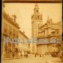 Fotografía antigua: NEGATIVO PLACA CRISTAL - GELATINO BROMURO DE ARGENTA - 9 X 12 CM. - AÑO 1910 - GIRALDA DE SEVILLA. Lote 71625823