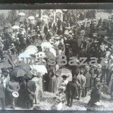 Fotografía antigua: NEGATIVO PLACA CRISTAL - GELATINO-BROMURO DE ARGENTA - 9 X 12 CM. - AÑO 1910 - MERCADILLO O FERIA. Lote 71756459